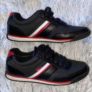 Levi's Men's Shoes 8.5 Black w/ Red & White